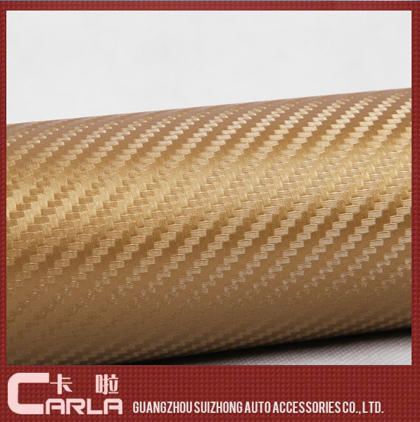 Special offer the whole body color change carbon fiber manufacturer high quality 20*127cm 3d car wrap vinyl(China (Mainland))
