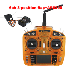 OrangeRx T-SIX 2.4GHz 6ch Digital Spread Modulation 2 Compatible 6CH Transmitter 3-Pos Switch with 6 channel AR6210 receiver