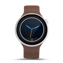 MTK2502 C1 Lemfo Bluetooth reloj inteligente 1.22 pulgadas ronda pantalla táctil para android IOS de control Del ritmo Cardíaco PK KW18 GD19