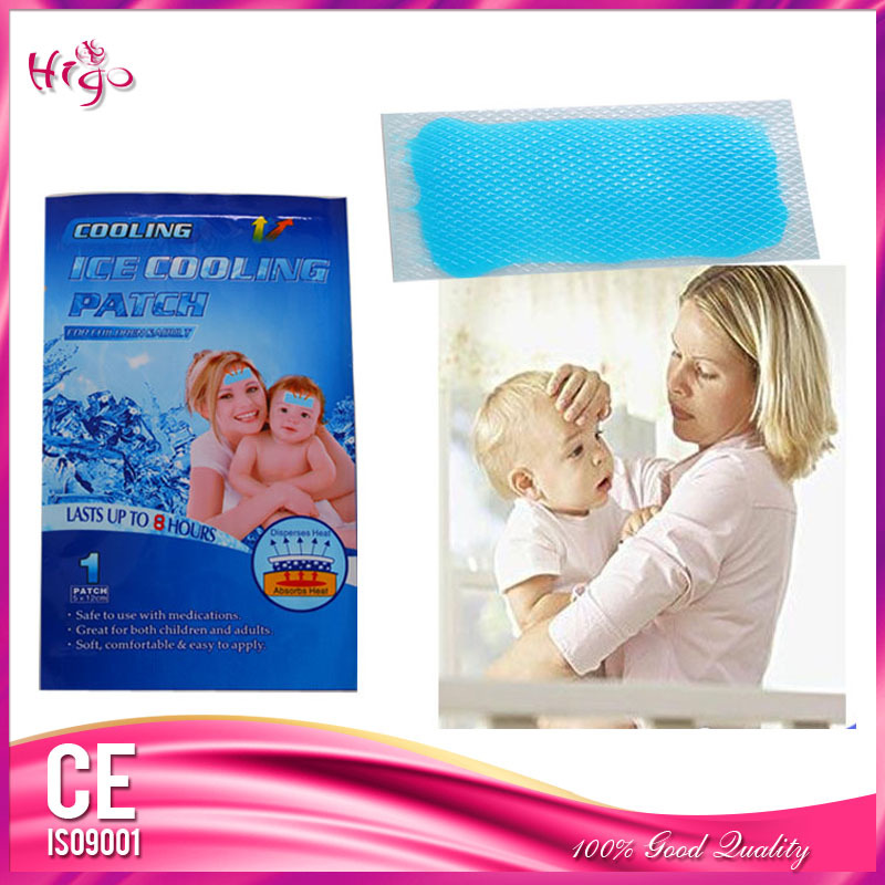 8PCS/Lot Ice Cooling Gel Patch Sheet Antipyretic Paster for Headache Fever Patch Pain Relief Headache Health Care Product(China (Mainland))