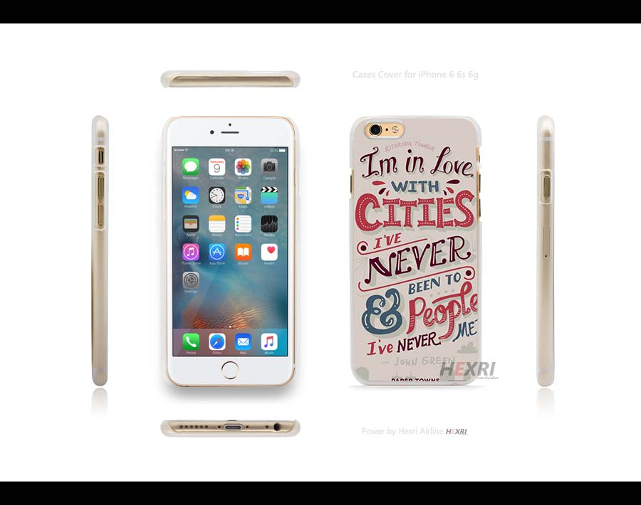 john green paper towns Hard Clear Case Cover for iPhone 4s 5 5s SE 6 6s Plus 6+(China (Mainland))
