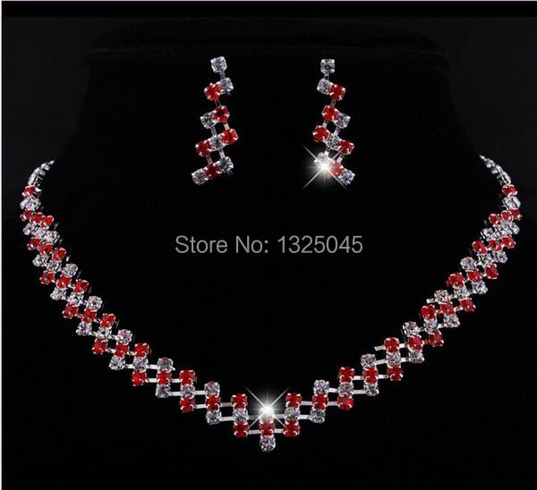 33+17cm free shipping fashion alloy &glass pearl bridal jewelry set high quatity wholesale price A-068(China (Mainland))