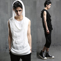2017 Men s fashion gauze piece cover copy two T shirt sleeveless fashion slim vest The