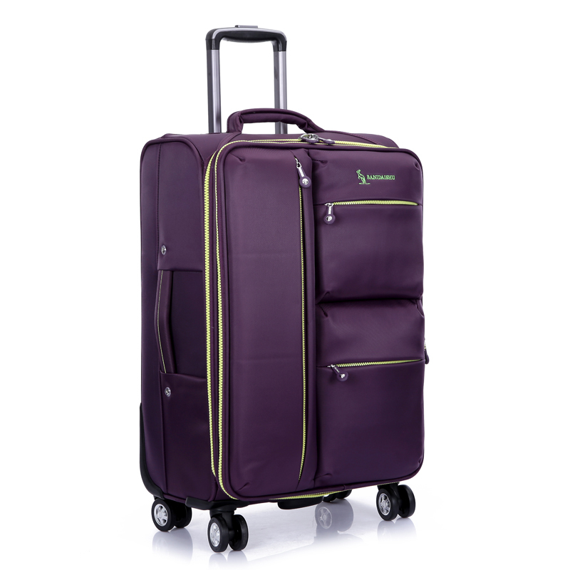"20 inch""24 inch"" 28 inch""inches Universal wheels trolley luggage, men women travel bag, large capacity canvas oxford cloth suitcase"""