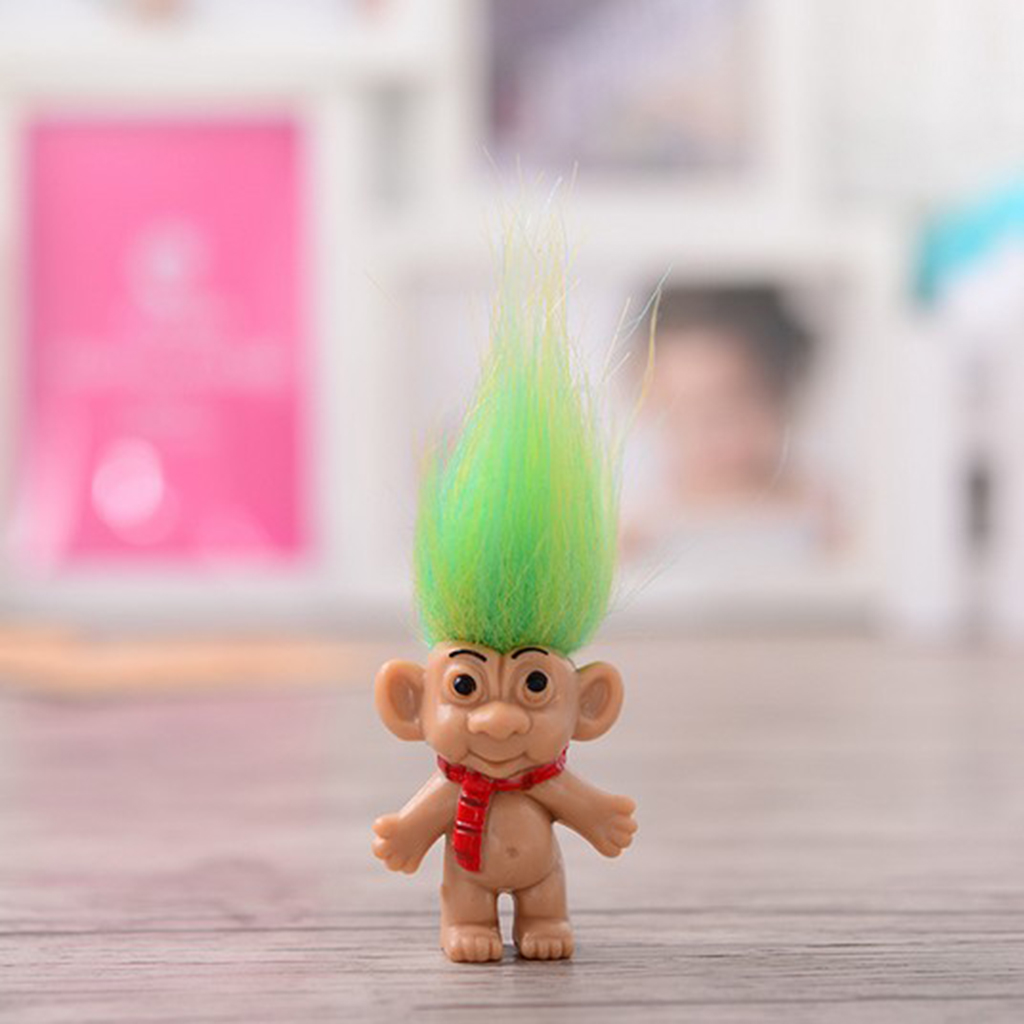 Chromatic 8pcs Lucky Troll Doll Dams Mini Action Figures Toy Cake Toppers