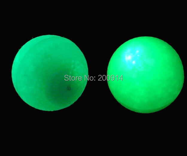 3 pcs/lot flashing golf ball-green light led night play golf ball gift golf ball(China (Mainland))