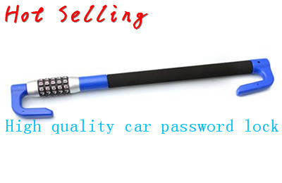 Blue hook  password General Anti-theft Locks Auto Typer Brand detector covers styling Function cover Car Steering Wheel Lock<br>