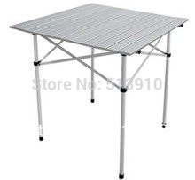 2015 Hot sale Foldable folding picnic park family hiking aluminum table/easy carry outdoor camping table for outdoor travel(China (Mainland))