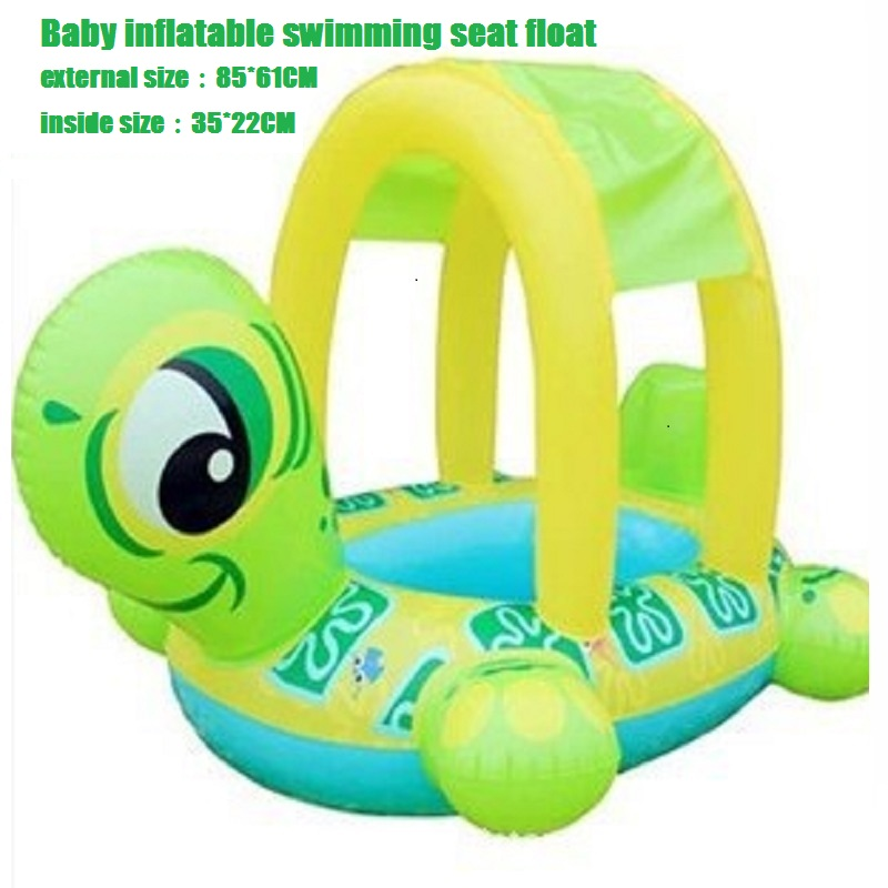 2016 New Piscine Baby swim ring baby float seat baby float boat inflatable ring Turtle Boat Pool Kids Swimming Accessories(China (Mainland))