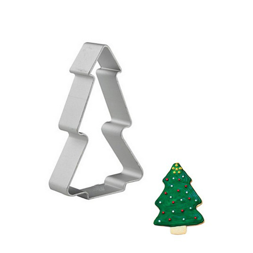 Christmas Tree Shaped Cookie Cutter (Cake Mold) for Pastry and Baking