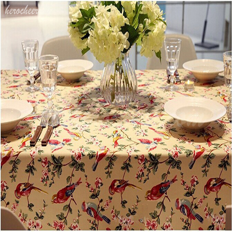 Promotion 100% Cotton printed table cloth china classic square table cloths 3 colors hot sale(China (Mainland))