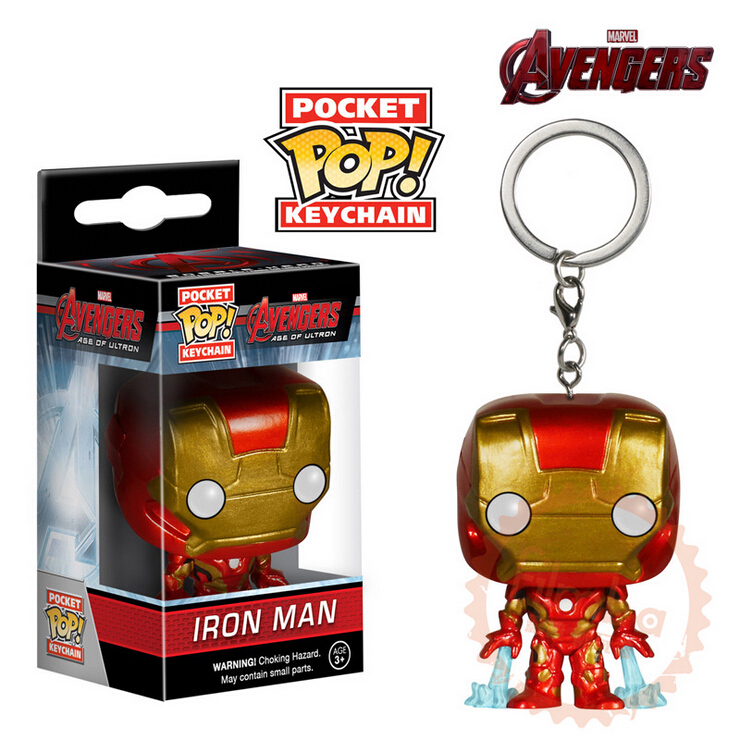 Genuine Brand Funko POP Super hero Avenger Union Captain America Iron Man Raytheon Thor Keychain Toy Marvel Action Figure toys(China (Mainland))