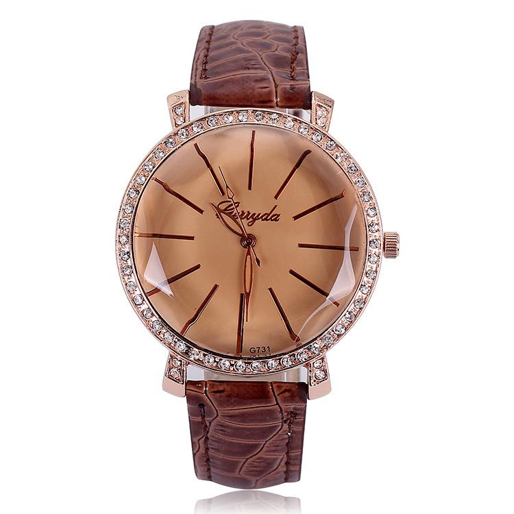 Top Brand Women Diamond Watches Leather Ladies Wrist Watch Luxury Bracelet Watch Relogio