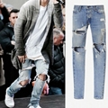 Size 28-40 High quality Hip-Hop Street Mens Jeans Designer Zippers jeans men Skinny Elastic Runway Biker Motorcycle Denim Pants