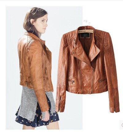 Faux leather jacket brown – Modern fashion jacket photo blog
