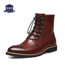Bullock shoes, Handmade super warm Genuine leather boots