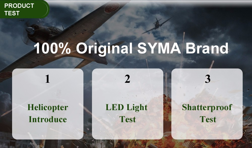 Hot Sale 100% Original SYMA S109G 3CH Beast Remote Control Drone Toys RC Helicopter AH-64 Military Model RTF Best Gift For Kids