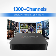 Buy European TV Box Android Smart Media Player IPTV Receiver 1300 Live IPTV Channels French Arabic Italy Turkish Netherlands Top Box for $53.88 in AliExpress store