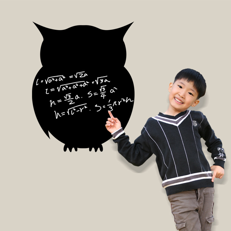 cute owl DIY Removable Wall Sticker Nursery Kid bedroom blackboard Art Decor Room Decal tip accessories(China (Mainland))