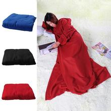 Freies Verschiffen Supper Startseite Winter Warme Fleece Snuggie Blanket Robe Umhang Mit Ärmeln K5BO(China (Mainland))