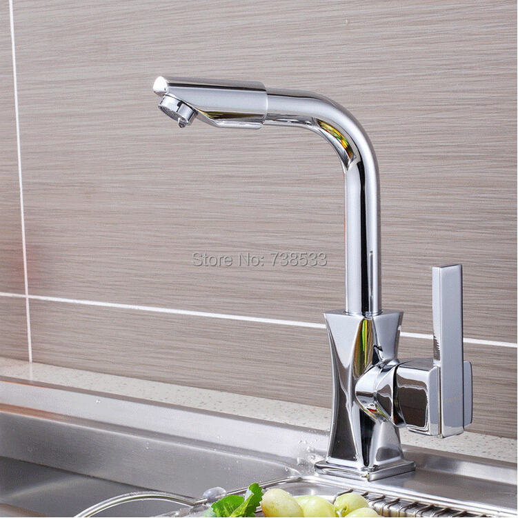 Luxury Rotating Hot And Cold Taps Kitchen Faucet Faucets,Mixers & Taps Single Lever Kitchen Sink Taps Sink Bathroom Faucet(China (Mainland))