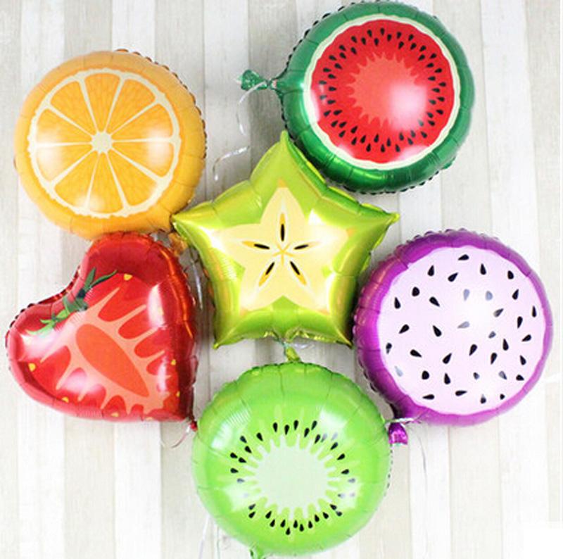 New Arrival Pitaya/Orange/Kiwi Fruit Carambola/Watermelon/Strawberry Fruit Balloon Birthday Party Decoration Balloon for kid toy(China (Mainland))