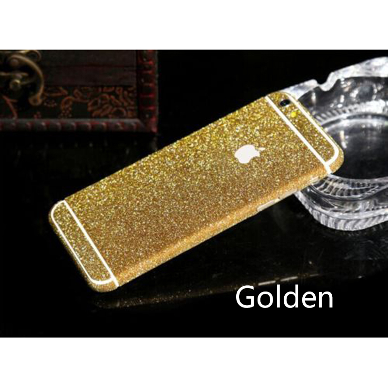 Luxury Bling Full Body Decal Glitter Back Film Sticker Case Cover For iPhone 6 4.7 Free shipping(China (Mainland))