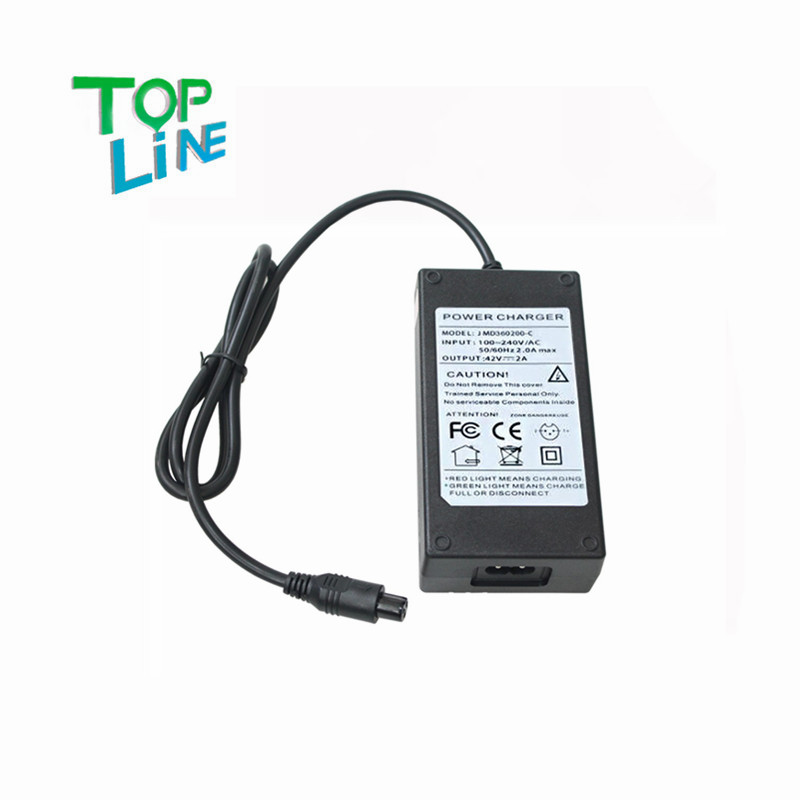 ANEWKODI power supply for balance scooter 42V 2A charger for 36V/37V Li-ion/Lithium-ion battery, Li-ion charger, ebike charger(China (Mainland))