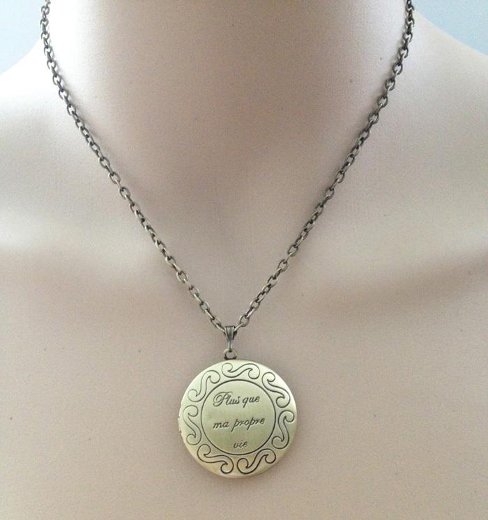 locket choker necklace letter necklace chain round shape photo locket pendant quote jewlery women men necklace
