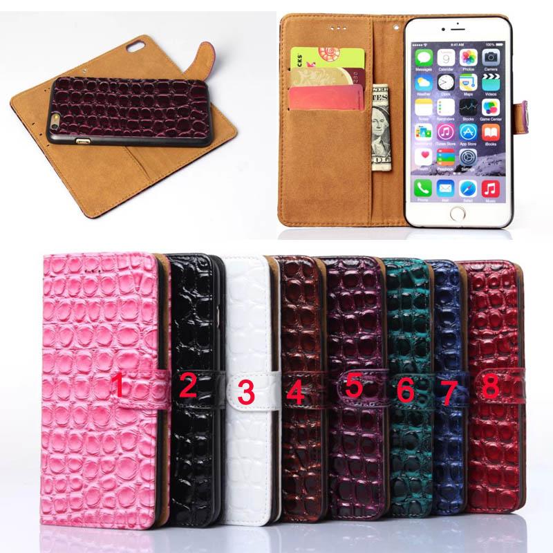Здесь можно купить  Fashion Stone Design 2 in 1 Detachable Flip Wallet Card Slot Phone Case for Apple iPhone 5/5S/6/6S Plus Leather Case+Back Cover  Телефоны и Телекоммуникации