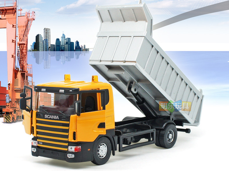 High Quality!! Sweden Scania Construction Dumpers Truck 18*7*6CM 1:43 Alloy Vehicles Toys Gifts Models Collection(China (Mainland))