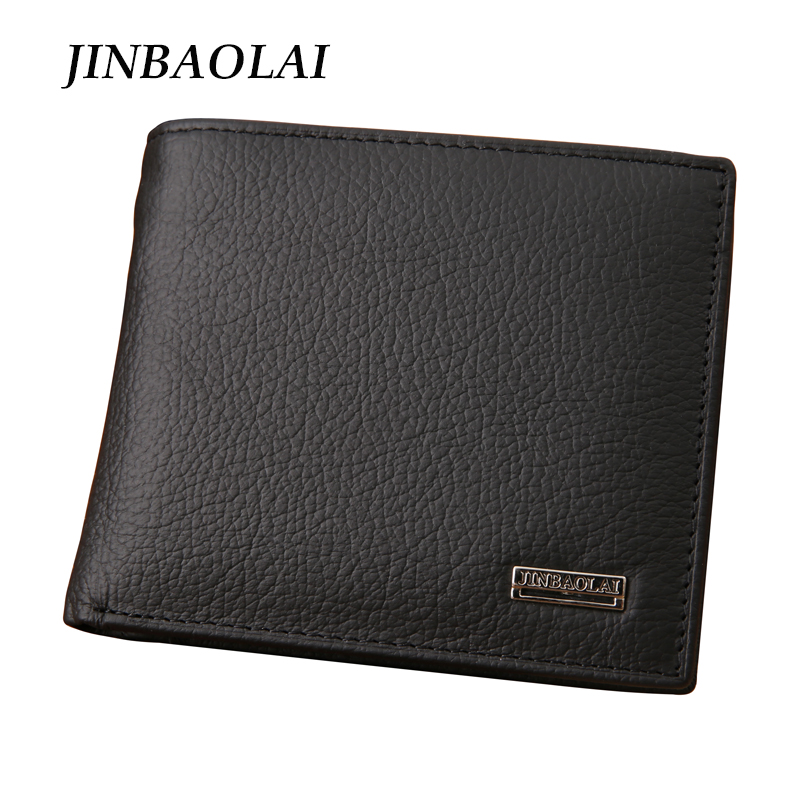 New 2016 euro genuine leather men wallets famous brand men wallet male black coin purse ID card dollar bill wallet(China (Mainland))