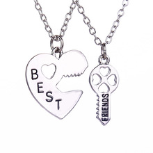 2015 New Style Broken Heart 3 Parts Pendant Best Friend Forever Necklace For Women Wholesale Jewelry