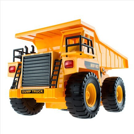 Best gift wireless electric toy car remote control dump truck model dump-car transport toy vehicle engineering car toy 3 battery(China (Mainland))