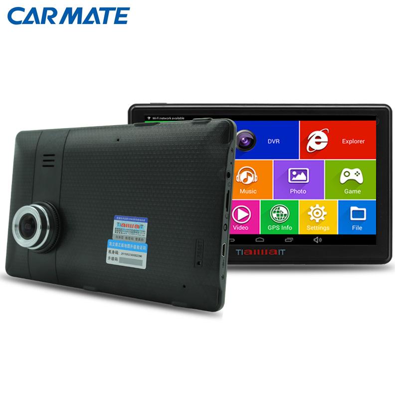 Neue 7 zoll Auto GPS-Navigation Android 4.4 DVR Kamera Bluetooth MT8127 Quad-core lkw gps navigator Navitel/Europa karte sat nav(China (Mainland))