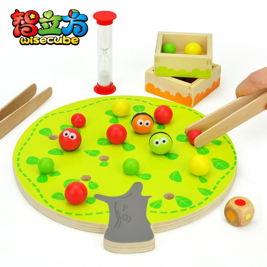 Гаджет  candice guo! Funny educational wooden toy montessori colorful fruit tree clip balls hand-eye coordination toy 1pc None Игрушки и Хобби