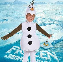 Олаф дети косплей фантастик плюш снеговик 3-pcs костюм для детей хэллоуин карнавал ну вечеринку