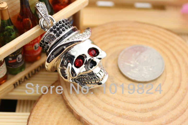 100% real capacity Halloween Skull flash Memory  Selling usb flash drives usb stick 64GB pendrive 16gb Usb Pendrive S518<br><br>Aliexpress
