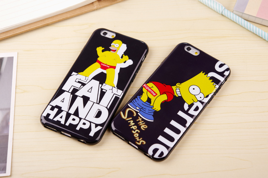 NEW the Simpson TPU Soft Back Cover Simpsons case covers For iphone6 6plus DHL Free Shipping(China (Mainland))