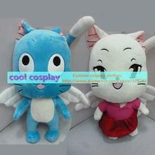 Anime Fairy Tail Plush Toy Kawaii Happy Charles Cat Stuffed Toys Doll Figure Toy for Kids Gifts 30cm