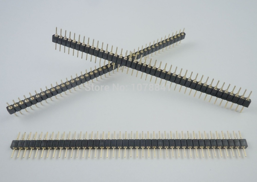 50 Pcs Per Lot Gold Plated Pitch 2mm 40 Pin Male Straight Round Pin Header Strip<br><br>Aliexpress