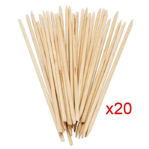 3 Sets of Practical Superior Orange Wood Stick Cuticle Pusher Manicure Lot of 20(China (Mainland))