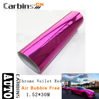 Pink Chrome mirror mask vinyl film for car color changing, air  free  bubble1.52*30m size