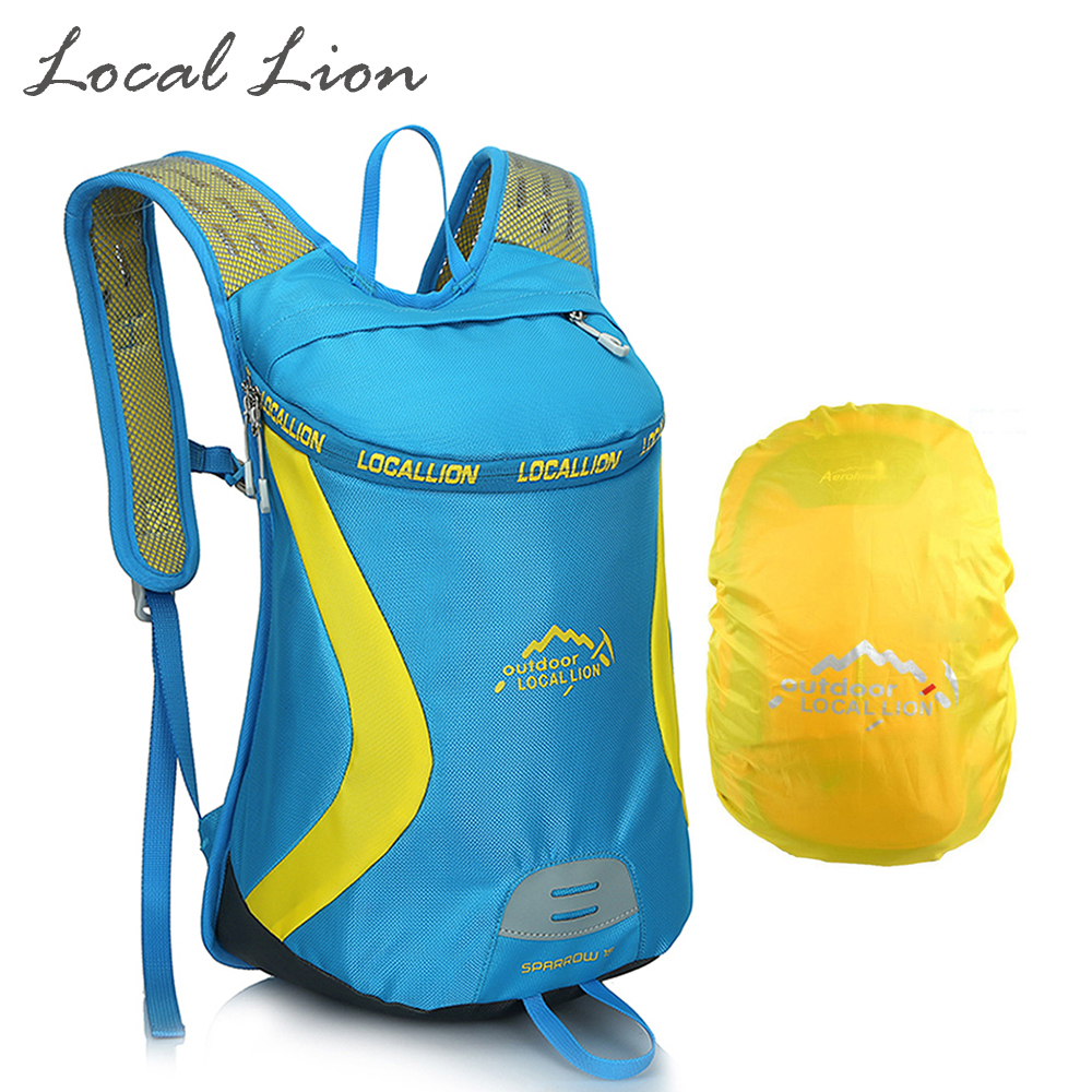 LOCAL LION 15L Polyester Cycling Backpack+Rain Cover Women Men Outdoor Backpack Running Hiking Rucksack Riding Knapsack HQB1774(China (Mainland))