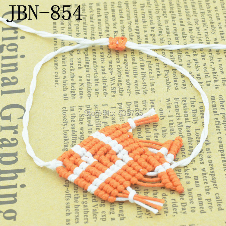vintage punk style hot New products listed fluorescent color Hand-woven fish charm bracelet for girl and women JBN-854(China (Mainland))