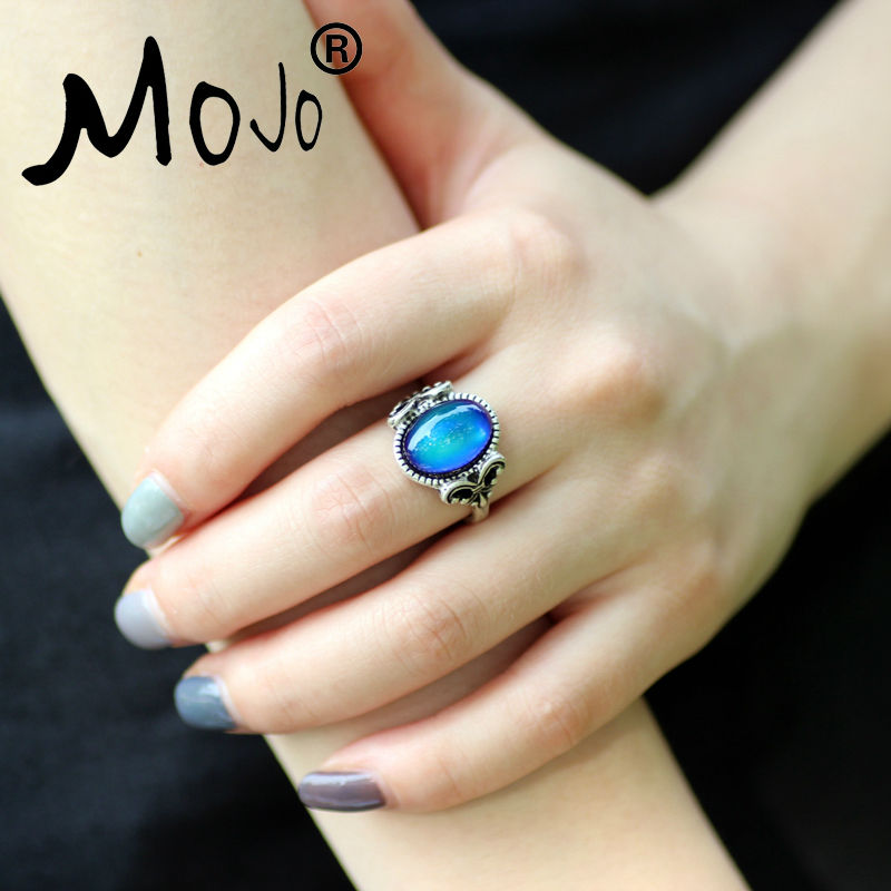 Mojo vintage retro color change mood ring feeling for Fashion jewelry that won t change color