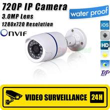 Mini ip camera 720 p securiy cctv network hd 3.0 mega  Pixel 1280*720 p esterna network ip camera, onvif h.264 libera il trasporto(China (Mainland))