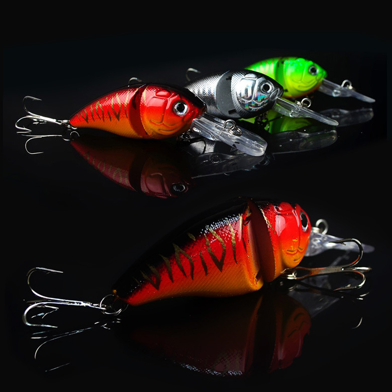 14G 8.5CM Fishing Lures Minnow Crank Bait Crankbait Bass Tackle Treble Hook bait wobblers fishing japan free shipping(China (Mainland))