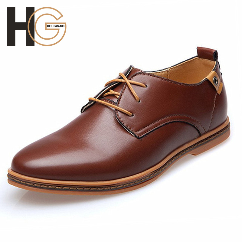 Mens Casual Lace-Up Shoes 2015 Spring Autumn Male Fashion PU Leather Pointed Toe Shoes Flat Plus Size 38-48,XMP329 <br><br>Aliexpress