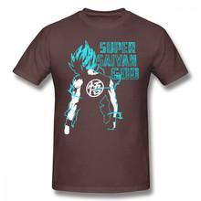 Goku футболка Goku Super Saiyan синяя 16 Футболка с принтом забавная футболка 100 хлопок с короткими рукавами Мужская классическая большая футболка(China)
